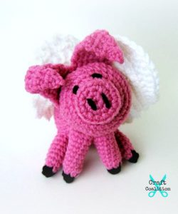 Lil Flying Pig Amigurumi by Celina Lane on CraftCoalition.com