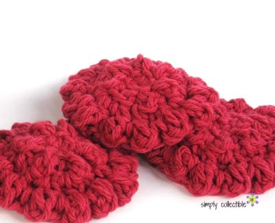"""Poofy Spa crochet Washcloth pattern - """"Cotton Ball""""   CraftCoalition.com"""