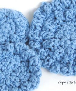 "Poofy Spa crochet Washcloth pattern - ""Cotton Ball"" 