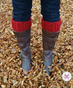 Simplicity Boot Cuffs crochet pattern by Celina Lane, CraftCoalition.com