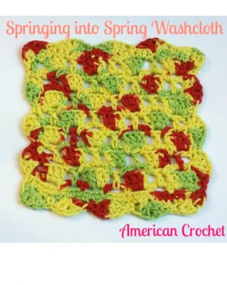 Springing into Spring Washcloth crochet pattern by Mistie Bush on CraftCoalition.com