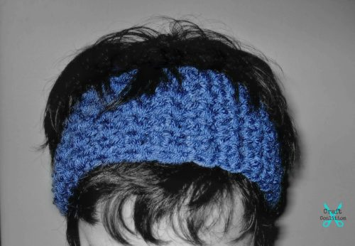 Bienvenue Textured Headband crochet pattern by Celina Lane, CraftCoalition.com