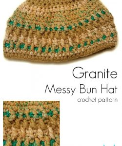 Granite Messy Bun Hat