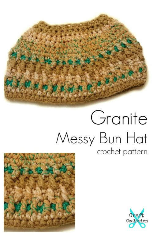 Bonfire Babe Messy Bun Hat 2-in-1 by Mistie Bush for CraftCoalition.com