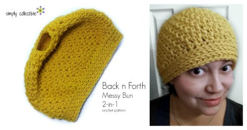 Back n Forth Messy Bun 2-in-1 by Celina Lane, SimplyCollectibleCrochet.com