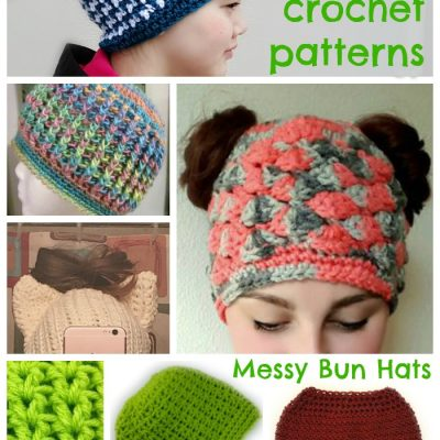Messy Bun Hat Phenomenon – 14 Free crochet patterns