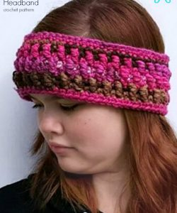 Granite Headband and Earwarmer crochet pattern