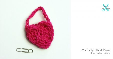 My Dolly Heart Purse free crochet pattern on CraftCoalition.com og