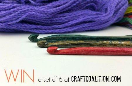 Win a Set fo 6 wooden hooks at CraftCoalition.com