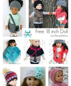 15 Beautiful FREE 18 Inch Doll Crochet Patterns