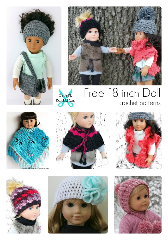 FREE 18 Inch Doll Crochet Patterns on CraftCoalition.com