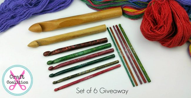 Giveaway - FREE Set of 6 wooden crochet hooks!