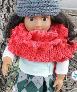 My Dolly Ruffled Ruana - free crochet pattern by Celina Lane for CraftCoalition.com