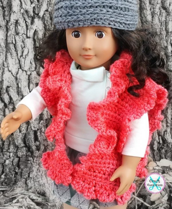 My Dolly Ruffle Ruana 18 Doll Crochet Pattern Craft Coalition